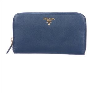Prada Saffiano Lux ZIP-around wallet